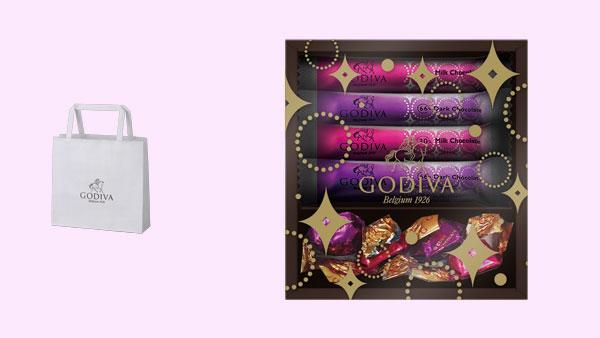 セブン-イレブンのホワイトデー商品「ゴディバ ショコラロールクッキー & G キューブ 8個入」