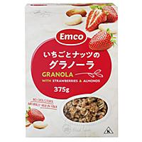 業務スーパーの輸入お菓子「いちごとナッツのグラノーラ」