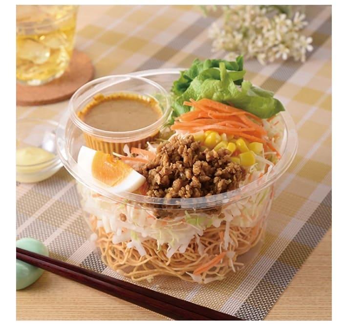キーマカレー風パリパリ麺サラダ