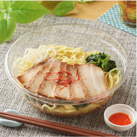 冷しチャーシュー麺(ラー油付)